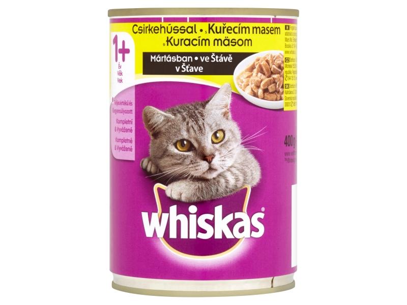 Whiskas S kuřecím masem ve šťávě 400g