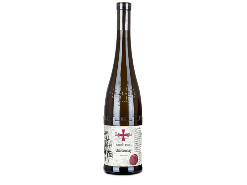 Templářské Sklepy Čejkovice Chardonnay jakostní suché víno, 0,75l