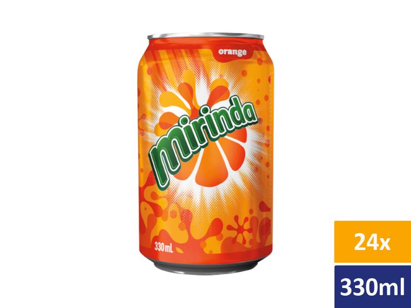 Mirinda Pomeranč 24x 330ml, plech