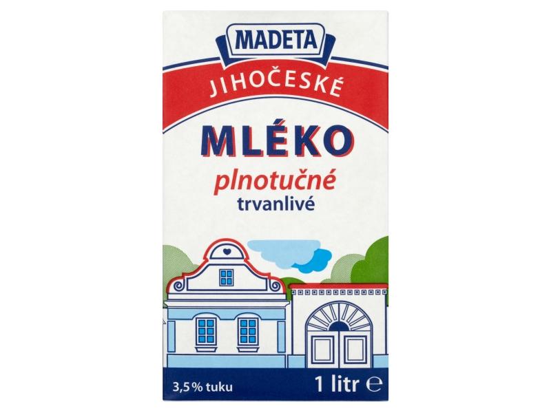 Madeta Jihočeské trvanlivé mléko plnotučné 3,5% 1l