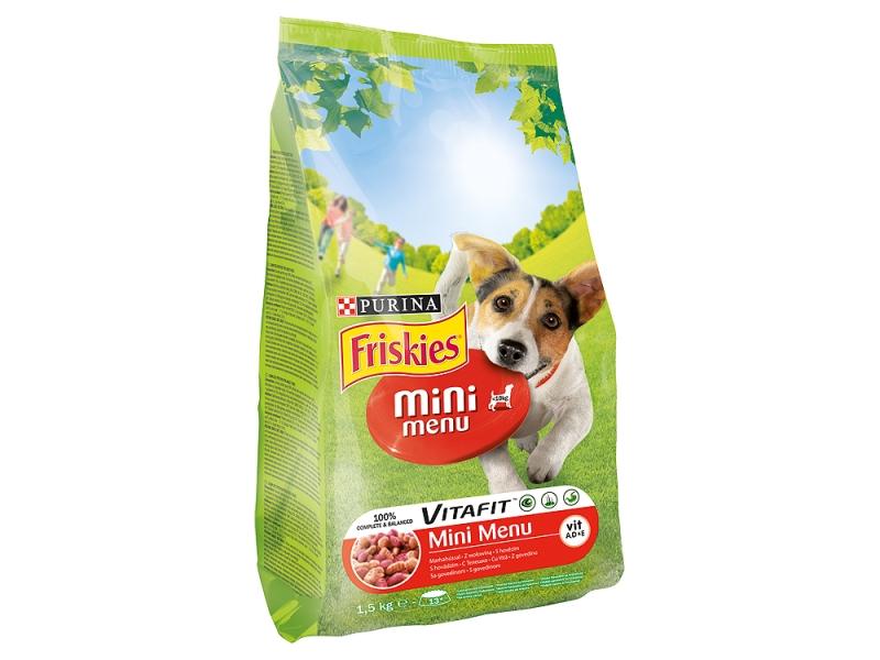 FRISKIES Mini Menu s hovězím a obilovinami 1,5kg