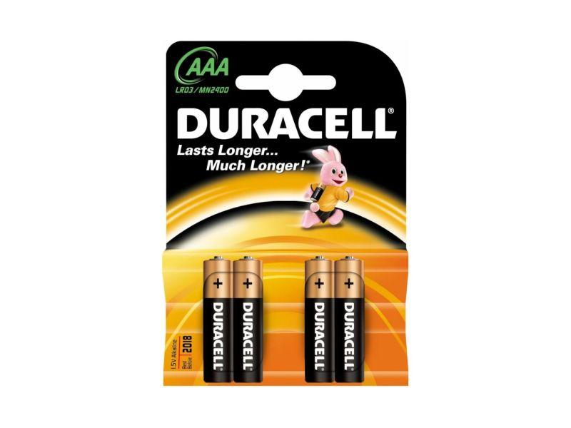 Baterie alkalická Duracell Basic AAA, LR03/MN2400, 4ks