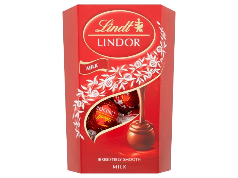 Lindt Lindor Milk mléčné čokoládové pralinky, 200g