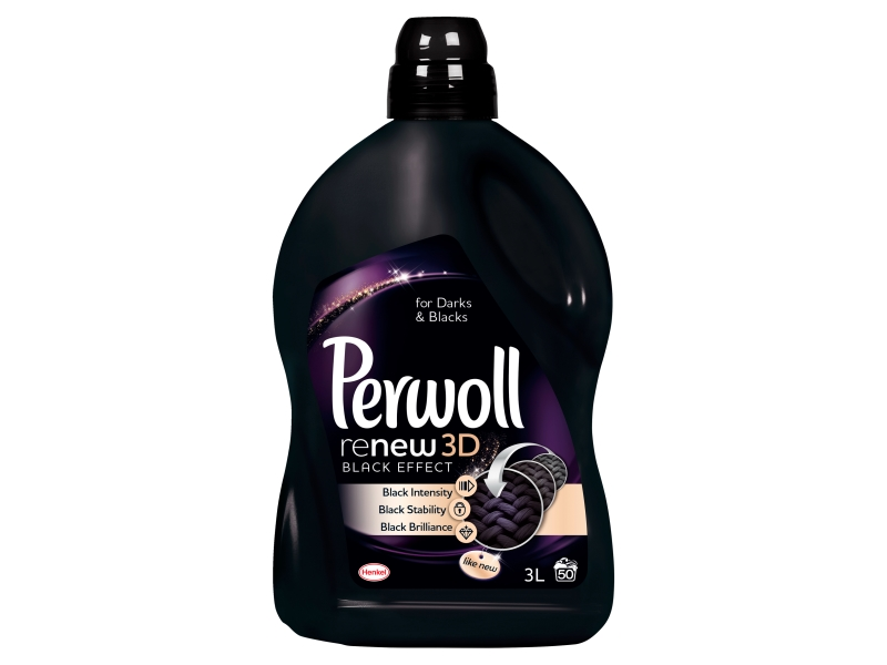 Perwoll ReNew 3D black effect prací prostředek tekutý (50 praní) 3l