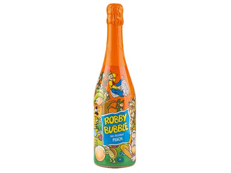 Robby Bubble Broskev dětský šumivý nápoj 750ml