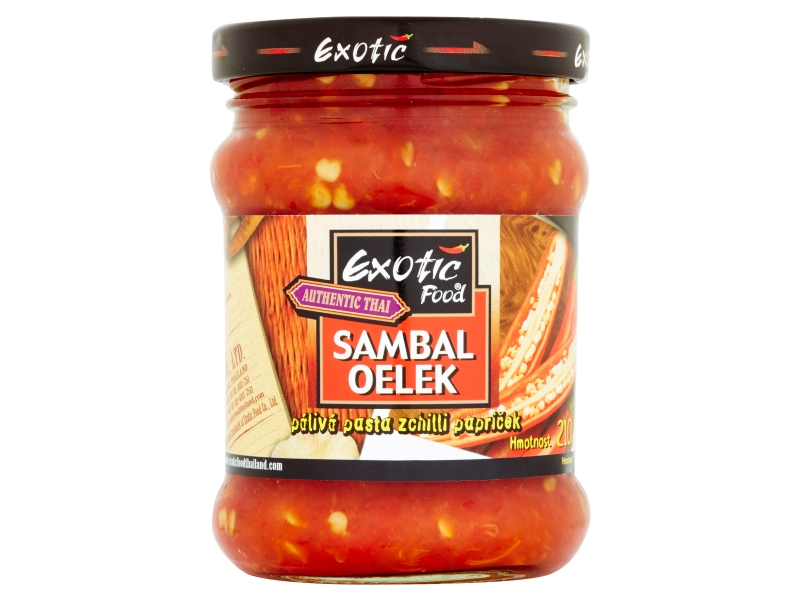 Exotic Food Authentic Thai Sambal oelek pálivá pasta z chilli papriček 210g