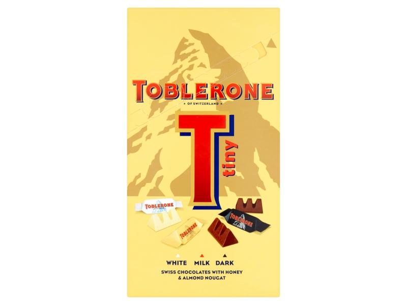 Toblerone Tiny výběr švýcarských čokolád s medovo-mandlovým nugátem 200g