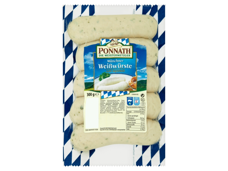 Ponnath Mnichovská bílá klobása 300g