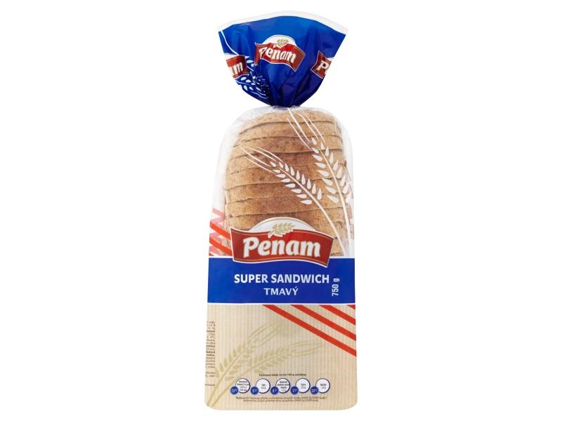Penam Super sandwich tmavý chléb pšeničný 750g