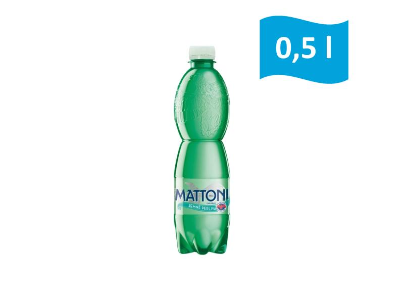 Mattoni Jemně perlivá přírodní minerální voda 0,5l, malá láhev
