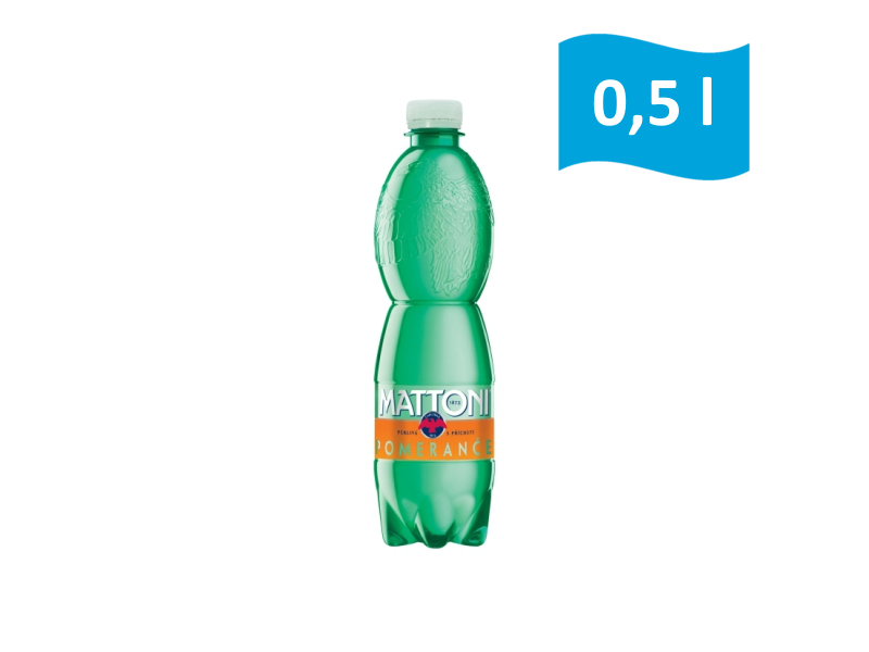Mattoni minerální voda pomeranč 0,5l, malá láhev