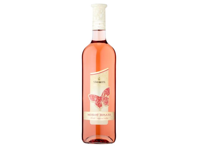 Víno Motýl Merlot Rosato suché růžové víno 0,75l