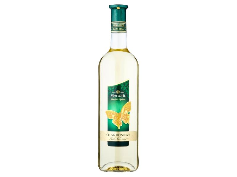 Víno Motýl Chardonnay suché bílé víno 0,75l