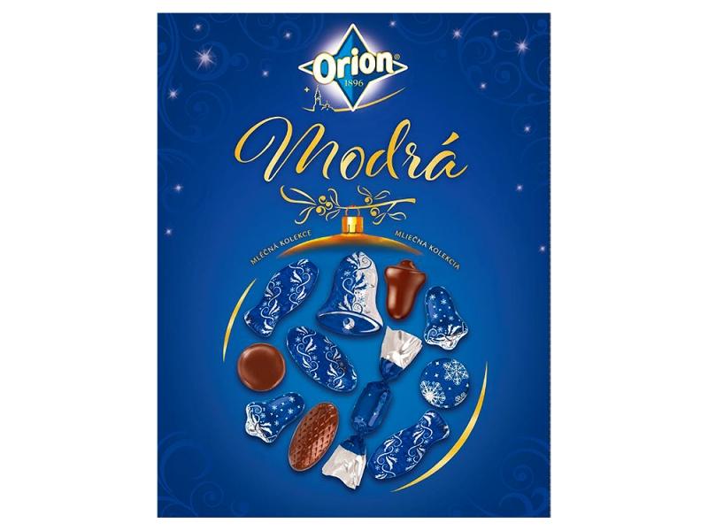 Orion Vánoční kolekce modrá mléčná 500g