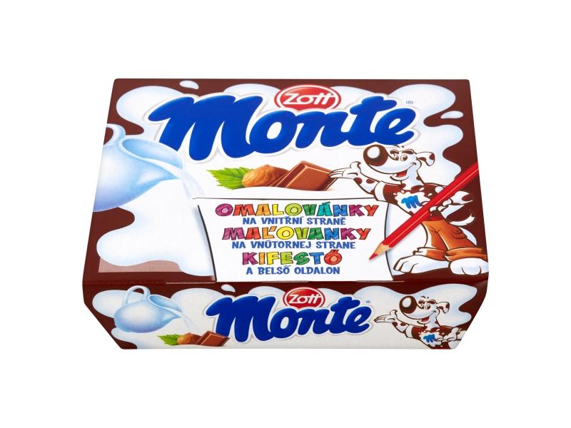 Zott Monte Mléčný dezert čokoládový 4x55g
