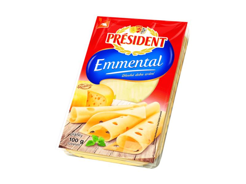 Président Emmental, plátky 100g