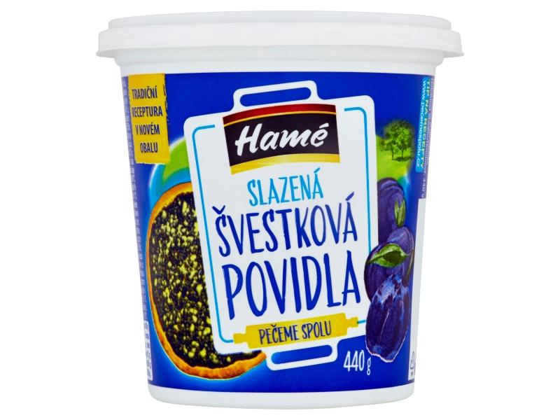 Hamé Slazená švestková povidla 440g