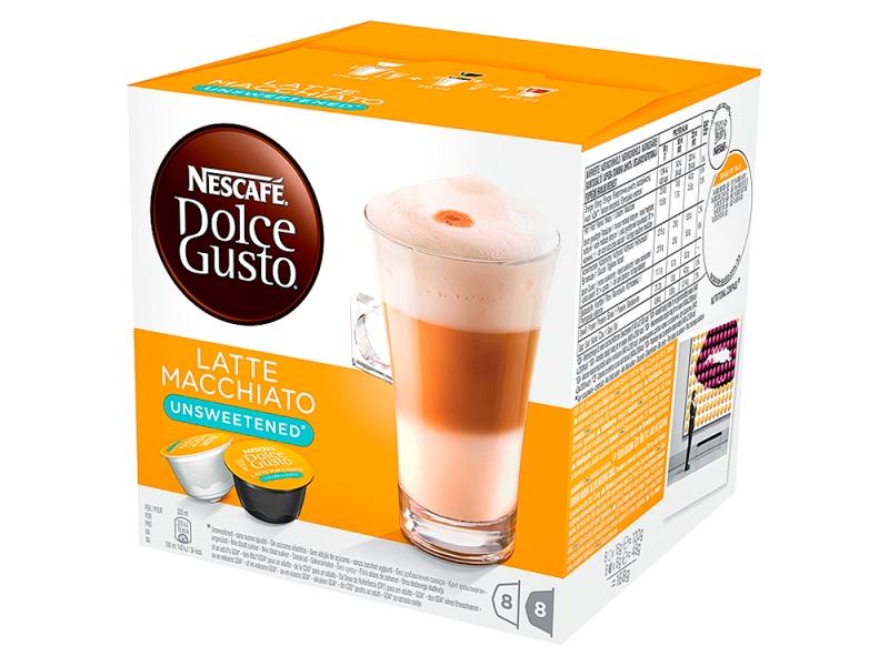 NESCAFÉ DOLCE GUSTO Latte Macchiato Unsweet kapsle 8x15g+8x6g
