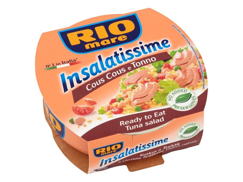 Rio Mare Insalatissime Kuskus a Tuňák s cizrnou, hráškem a cherry rajčaty 160g