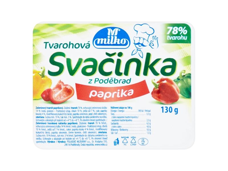 Milko Tvarohová svačinka paprika 130g