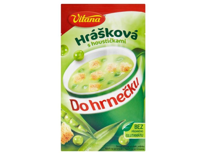 Vitana Do hrnečku Instantní polévka hrášková s houstičkami 27g