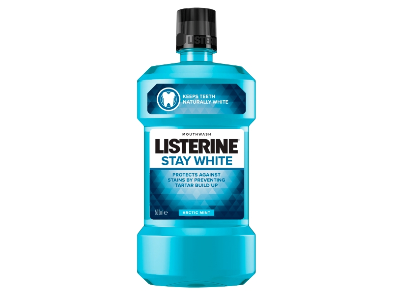 Listerine Stay White Arctic Mint ústní voda 500ml