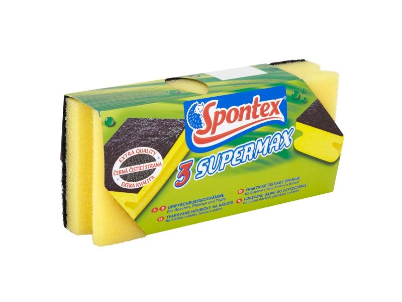 Spontex Supermax tvarované houbičky na nádobí 3ks