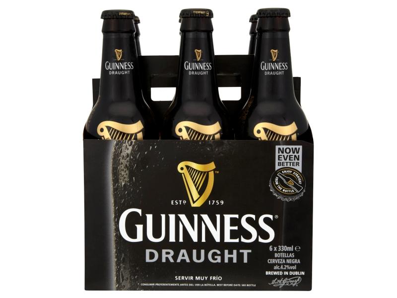 Guinness Draught pivo svrchně kvašené tmavé 6 x 330ml