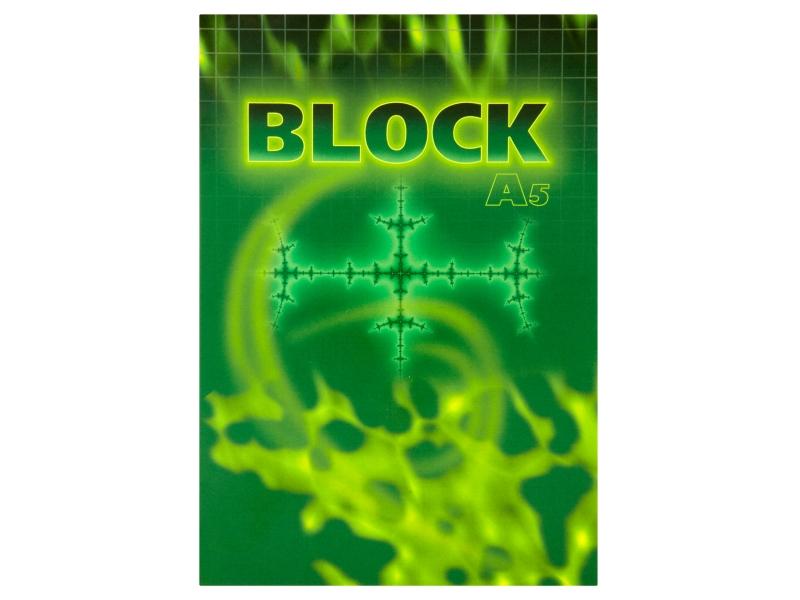 Blok čtverečkovaný A5 50 listů 1ks