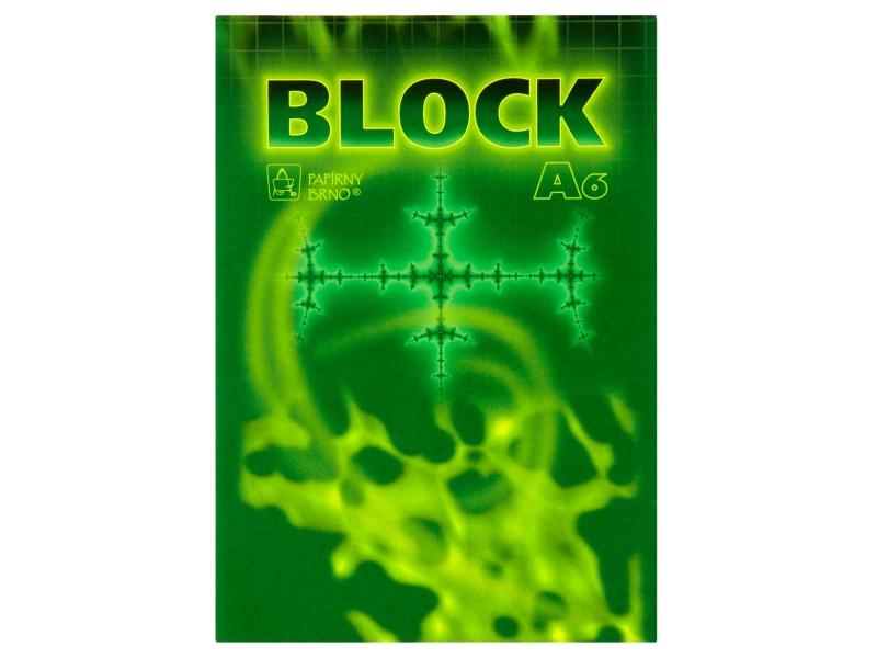 Blok čtverečkovaný A6 50 listů 1ks
