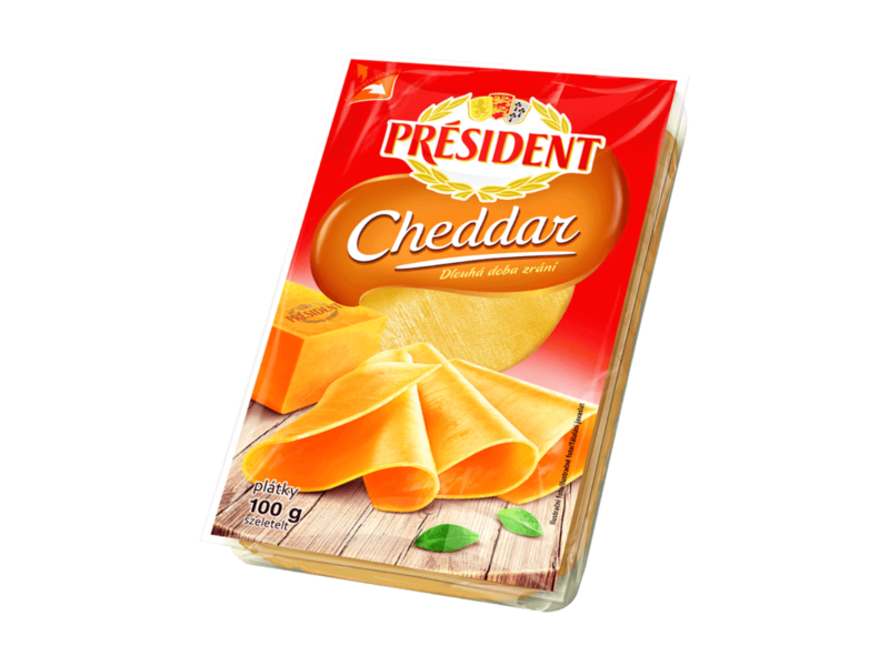 Président Cheddar, plátky 100g