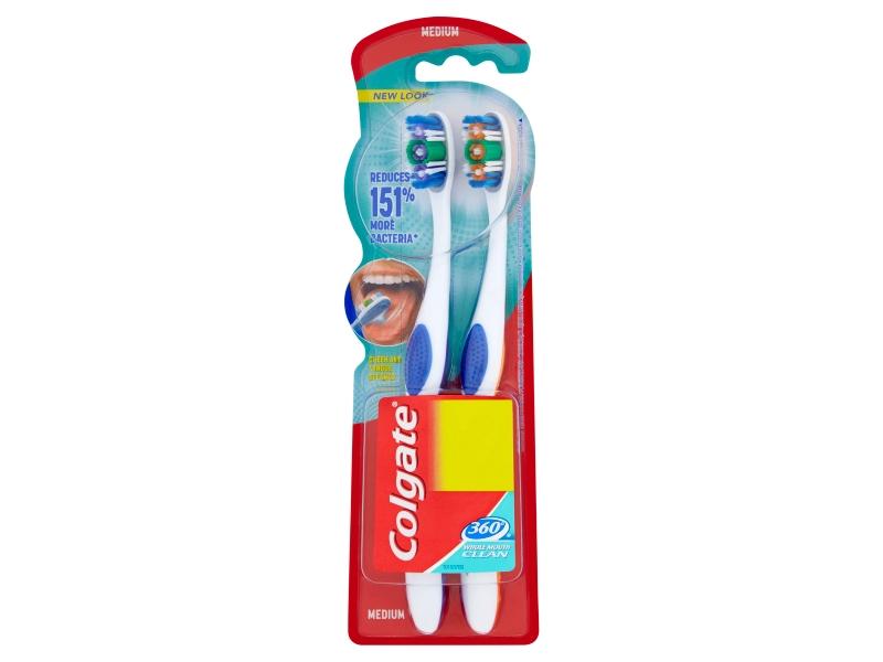 Colgate 360° Střední zubní kartáček 2 ks