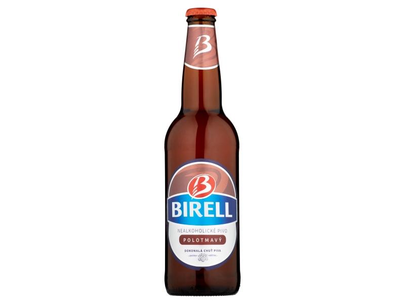 Birell Polotmavé nealko pivo 500ml