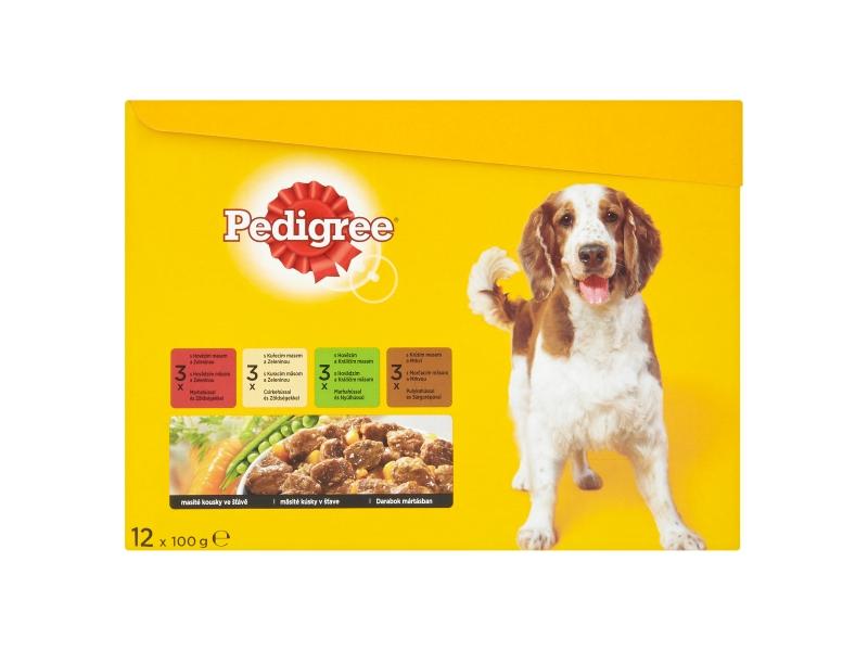 Pedigree Kompletní krmivo pro dospělé psy 12x100g