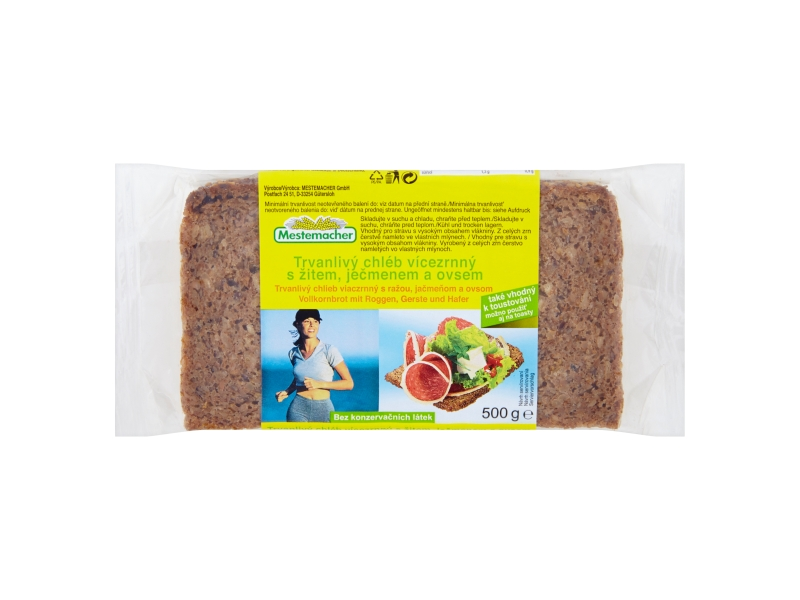 Mestemacher Chléb vícezrnný balený krájený 500g