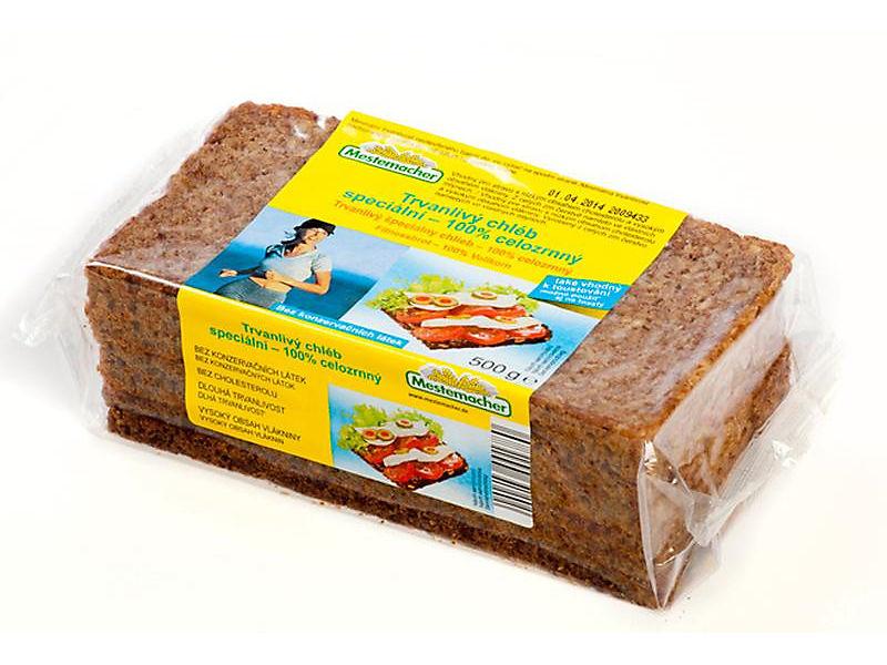 Mestemacher Chléb 100% celozrnný balený krájený 500g