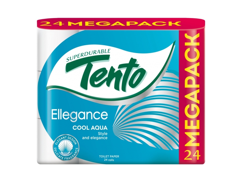 Tento Ellegance Cool Aqua Toaletní papír 3-vrstvý, 24 rolí