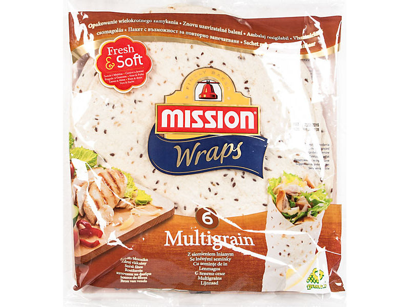 "Mission Tortilla Multigrain 10"" 6x61,70g"