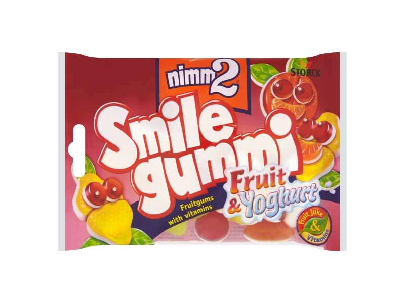 Nimm2 Bonbóny Smile gummi ovoce a jogurt 100g