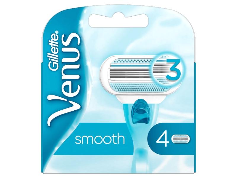 Gillette Venus Smooth Náhradní Holicí Hlavice 4x