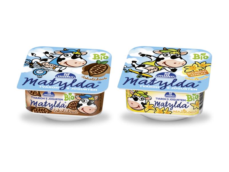 Milko Matylda BIO Tvaroh s jogurtem Čokoláda / Vanilka, 2x100g