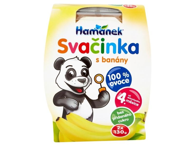 Hamánek Svačinka s banány 2x130g
