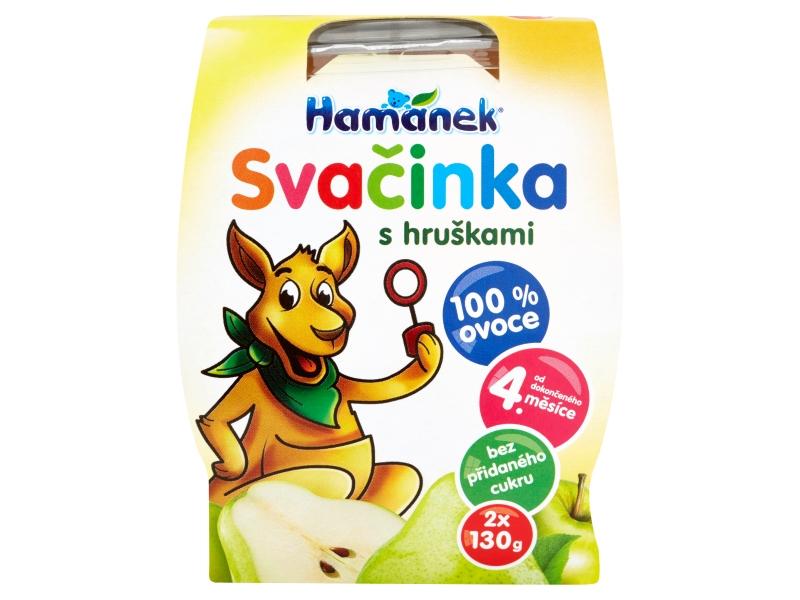Hamánek Svačinka s hruškami 2x130g
