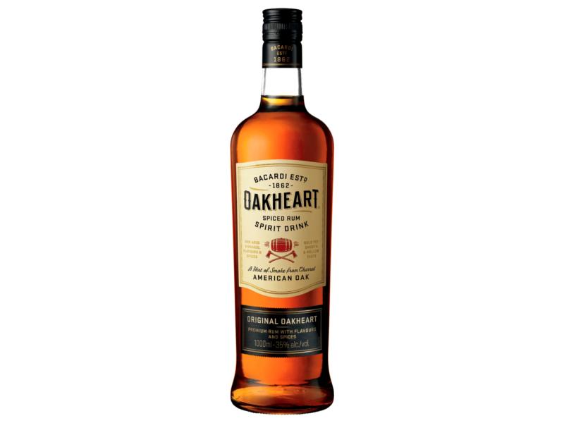 Bacardi Oakheart Rum 35%, 1l