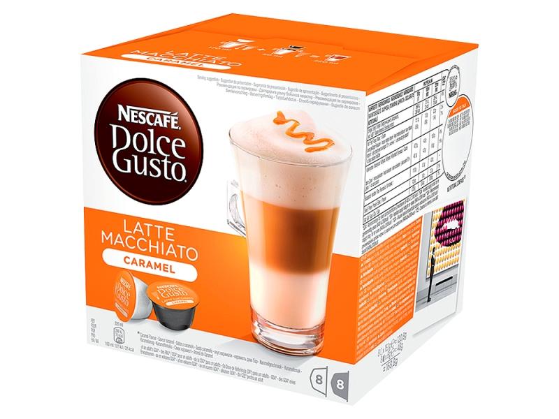 NESCAFÉ DOLCE GUSTO Latte Macchiato Caramel kapsle 8x15,1g+8x6g