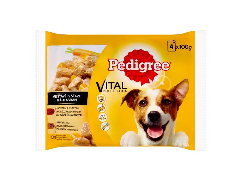 Pedigree Vital Protection 100% kompletní výživa ve šťávě 4x100g