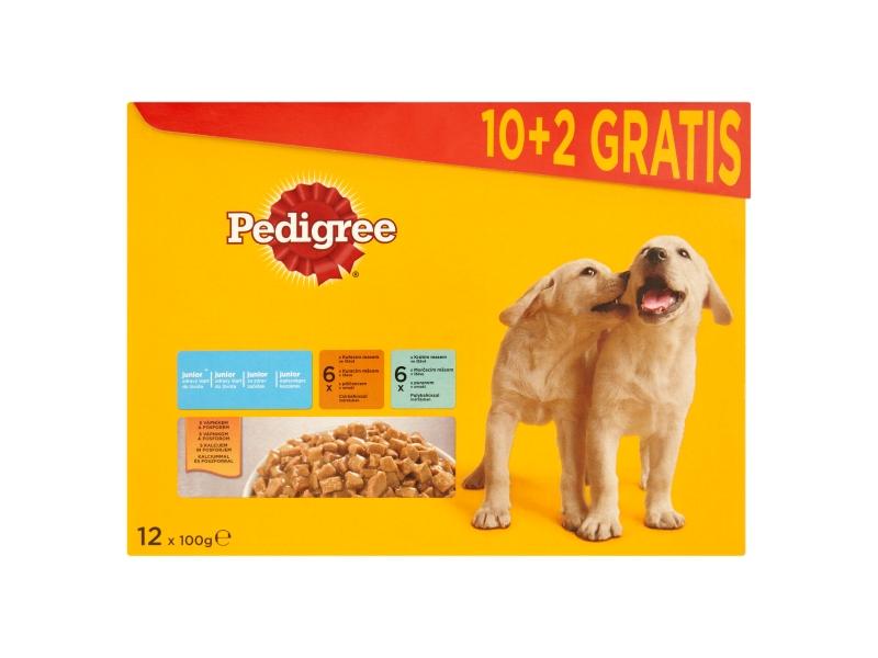 Pedigree Junior Kuřecí a krůtí maso ve šťávě 12x100g