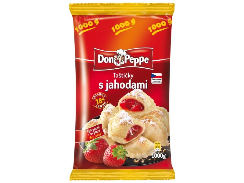 Don Peppe Taštičky s jahodami mraž. 1kg