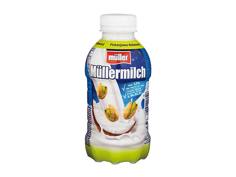 Müllermilch Mléčný nápoj pistácie a kokos 400ml