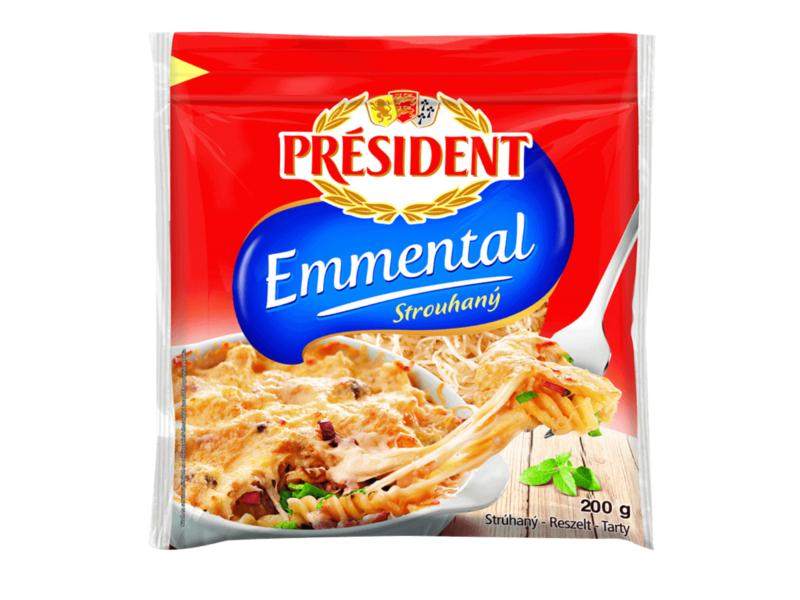 Président Emmental Strouhaný sýr 200g
